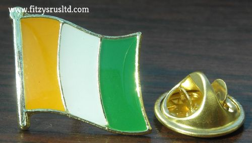 Ivory Coast Country Flag Lapel Hat Cap Tie Pin Badge Republic of Cte d'Ivoire
